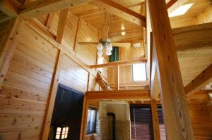 山小屋風の家