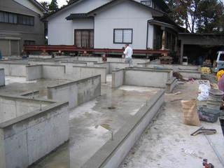 曳き家の基礎工事